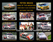 480 - Peter Brock King Of The Mountain - Signed - 16x20 inch $25.00