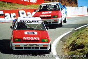89711  -  Fury / Olofsson & Richards / Skaife    Bathurst 1989  Nissan Skylines Through The Dipper - Photographer Lance J Ruting