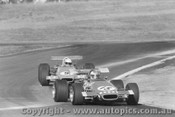 71504 - Campbell  leads Hamilton, both in Elfin 600B Oran Park 1971