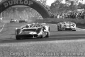 68427 - Matich in  his SR3 ahead of Allen s Elfin Traco Harvey s Elfin 400 Warwick Farm 1968