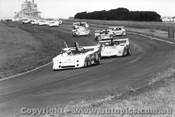 75402 - First Lap 1975 Aust. Sports Car Championship - Phillip Island - Elfin MS7 - McLaren M8F