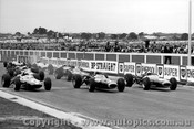 66525 - Start of the 1966 Sandown Tasman - Jack Brabham / Jackie Stewart BRM / Jim Clark Lotus / Graham Hill.