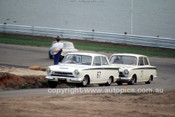 65128 - Max Volkers & Brian Michelmore Lotus Cortina - Lakeside 1965- Photographer John Stanley
