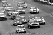 68053 - Start of the 1968 NSW Touring Car Championship - Catalina Park Katoomba - Manton Foley Stewart and  Barnes in Morris Cooper S,  Beechey Camaro,  Geoghegan Allen and Coppins in Mustangs,  McKeown s Cortina