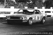 69038 - Allan Moffat, Mustang Tran AM - The Mustangs first race meeting , Sandown 4th May 1969 - Photographer Peter DAbbs