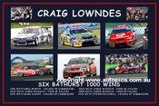185 - Lowndes Six Bathurst Wins - $25 (12x8 inch)