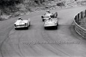 P. Meyer, Lotus Elan, Doug McCarther & Doug Chivas, Austin Healey Sprite - Catalina Park Katoomba - 8th November 1964 - Code 64-C81164- 50
