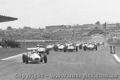69531 - First Lap Formula Vee Race Sandown 1969 - I. Hill Malmark Vee leads C. Milton Elfin Vee and the 40 more.