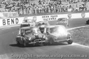 72072 - #76 A. Galettis / #59 R. Reece / #54 A. Cunningham / #88 J. Roohan - Morris Cooper S - Oran Park 1972