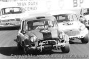 73040 - #17 A. Galettis / #90 J. Byers  Morris Cooper S #23 G. Cavenagh Ford Escor t- Oran Park 1973