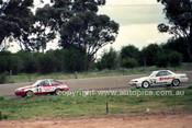 87791  -  Bob Holden Toyota Corolla & Kent Bargent Nissan Skyline  -  James Hardie 1000 Bathurst 1987 - Photographer Peter Schafer