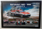 $295 - Nissan GT-R Bathurst Winner 1991 & 1992 - Signed and Framed