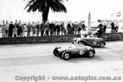 58414 -B. Sampson Morris Special & J. Clarke MG. TC - Geelong Speed Trials 1958