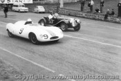 58415 - B. Patterson Cooper Climax & P. Candy MG. TF - Geelong Speed Trials 1958