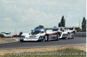 84402 - S. Bellof / D. Bell Porsche 956T & A. Jones / V. Schuppan Porsche 956T - Final Round of the World Sports Car Championship - Sandown 1984