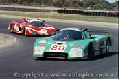 84412 - M. Finotto / C. Facetti Alba Giannini C2T - Final Round of the World Sports Car Championship - Sandown 1984