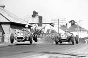 59630 - Stan Jones, Maserati 250F & Len Lukey, Cooper T45 Climax - Australian Grand Prix, Longford 1959