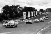 72578 - Allan Moffat, Ford Falcon XY GTHO Leads the pack into Peters Corner  - Sandown 1972 - Photographer Peter D'Abbs