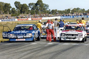 81084 - Dick Johnson, Falcon & Peter Brock, Commodore  - Wanneroo 1981