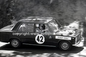 67850 - Bill Tuckey & MaxStahl, Fiat 124  - Gallaher 500 Bathurst 1967 - Photographer Lance Ruting