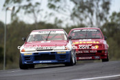 91035 - Mark Skaife, Nissan GTR & Dick Johnson Sierra - Lakeside  1991 - Photographer Marshall Cass