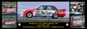 175 - Peter Brock & Larry Perkins, Commodore VK - Bathurst Winner 1984 -  A Panoramic Photo 30x10 inches.