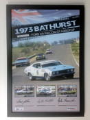 182F - Framed Falcon XA GT Hardtop Poster - Personally Signed By Allan Moffat, John French & Fred Gibson