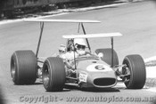69543 - Jack Brabham - Brabham BT31 - Note the detached rear wing support - Bathurst  1969