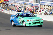 93035 - Graham Neilsen / Keith Carling / Bill Gillespie, Nissan Skyline GT-R  - 1993  Bathurst James Hardie 12 Hour- Photographer Marshall Cass