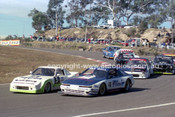 90317 - Des Wall, Supra & Mike Griffin, Mazda RX7 - Amaroo Park 5th August 1990 - Photographer Lance J Ruting