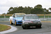 87067 - Murray Carter / Denis Horley & Keiran Wills / Philip Henley, Nissan Skyline - Sandown Castrol 500 1987 - Photographer Peter D'Abbs