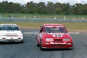 87066 - John Giddings / Bruce Stewart, Sierra & Mark Skaife / Grant Jarrett, Nissan Gazzelle - Sandown Castrol 500 1987 - Photographer Peter D'Abbs