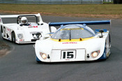 87059 - Terry Hook, Lola T610 & Andy Roberts, Roberts SR3 - Sandown 1987 - Photographer Peter D'Abbs