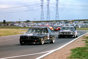 87057 - Jim Richards & Tony Longhurst, BMW M3 & Ray & Graham Gulson, BMW 635 CSi - Calder 11th October 1987 - Photographer Peter D'Abbs