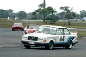 86077 - John Bowe / Alfredo Costanzo, Volvo 240  - Sandown Castrol 500 1986 - Photographer Peter D'Abbs