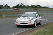 86073 - John Harvey / Neal Lowe, VK Commodore  - Sandown Castrol 500 1986 - Photographer Peter D'Abbs