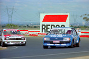 81093 - Dick Johnson, Falcon XD & Peter Brock, Commodore - Calder 15th March 1981 - Photographer Peter D'Abbs