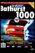 735 - Bathurst Programme Cover 1998 - 2 Ltr