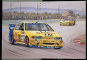 167 - Dick Johnson & John Bowe - Personally Signed - 1994 Bathurst Winning Falcon EB - Free Freight