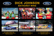 169 - Dick Johnson - His three Bathurst Wins - 8x12 $5.00
