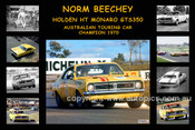 335S - Norm Beechey - A collage of his Holden HT Monaro GTS 350 - 12x18 $10