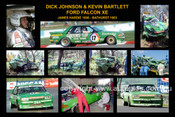 343S - Dick Johnson A collage from Bathurst 1983 - - 12x18 $10