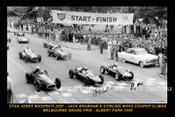 58501-1S - Start of the 1958 Melbourne GP Albert Park - Front Row Moss - Cooper / Brabham - Cooper / Jones - Maserati -12x18 $10