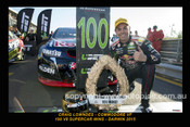 15003-1S - Craig Lowndes Commodore VF - Darwin 2015 - 100 V8 Supercar wins  - 12x18 $10