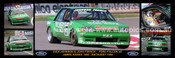 176S - Dick Johnson & John French, Greens Tuf Falcon XE - Bathurst 1984 -  A Panoramic Photo 30x10 inches.