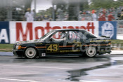 86087 - Denny Hulme, BMW 190E - Adelaide 1986 - Photographer Ray Simpson
