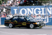 86086 - Denny Hulme, BMW 190E - Adelaide 1986 - Photographer Ray Simpson