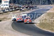 61020 - Ron Hodgson Jaguar 3.8 / Max Volkers &Brian Muir Holdens /   Leo Geoghegan, Morris 850 / Pat Keller Customline - Lakeside 1961