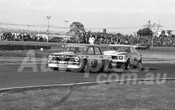 75113 - Ron Harrop, Holden EH & Pete Geoghegan, Monaro - Calder 1975 - Photographer Peter D'Abbs