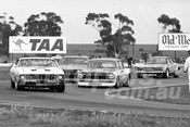75136 - Murray Carter, Falcon - Ron Harrop, Holden EH Ian Diffen, Charger & Pat Crea, Cortina - Calder 1975 - Photographer Peter D'Abbs